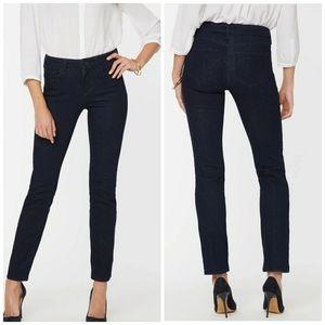 Like New! NYDJ Sheri Slim Dark Wash Jean's 6